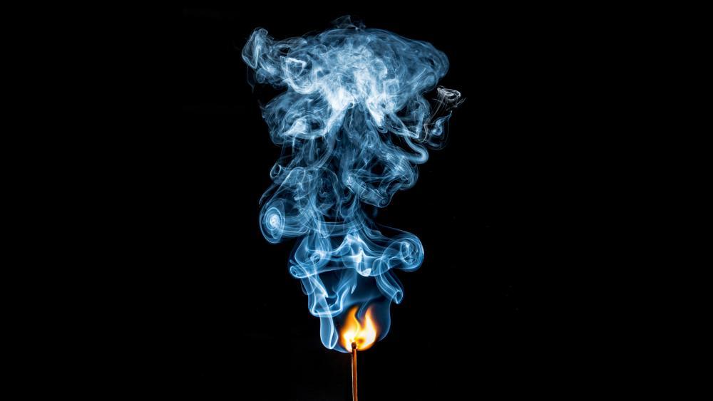 Blue flame wallpaper
