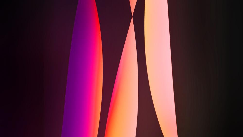 Light pillars wallpaper
