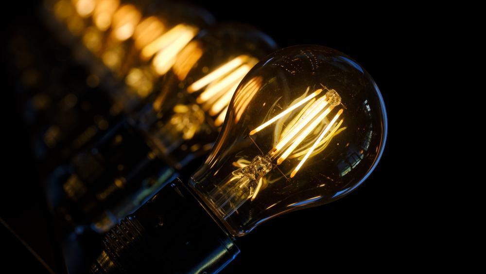 Light bulbs wallpaper
