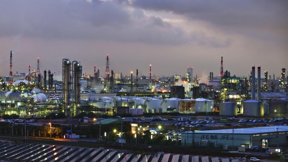 Industrial Area in Kawasaki wallpaper