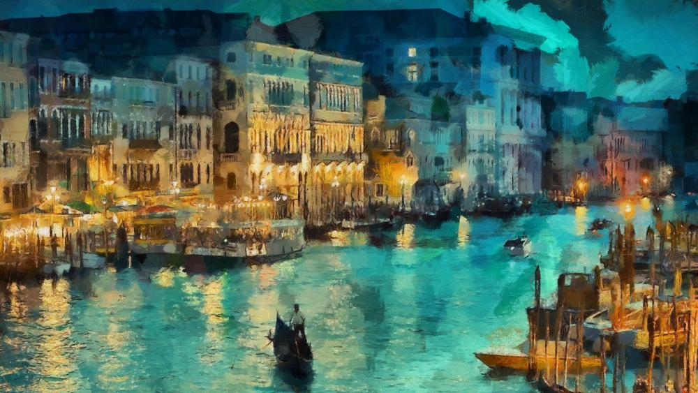 Grand Canal painting art wallpaper
