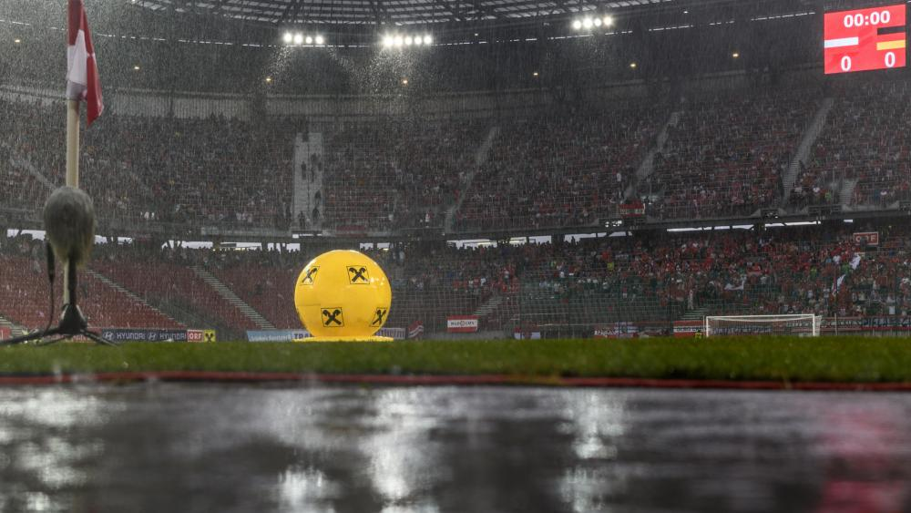 Rain Before a FIFA Friendly Match Between Austria & Germany wallpaper
