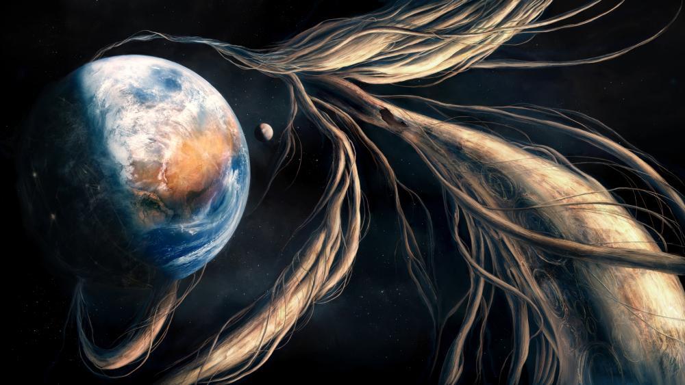 Earth - Space art wallpaper