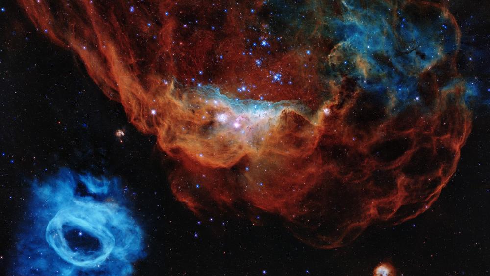 Tapestry of Blazing Starbirth: Cosmic Reef (NGC 2014 & NGC 2020) wallpaper