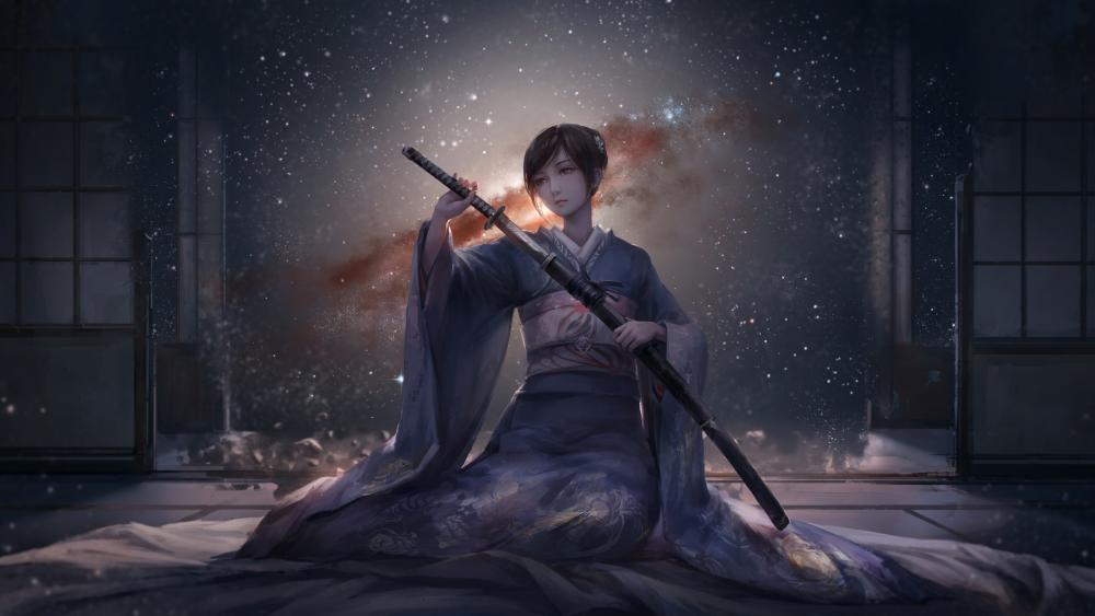 Kimono female warrior wallpaper