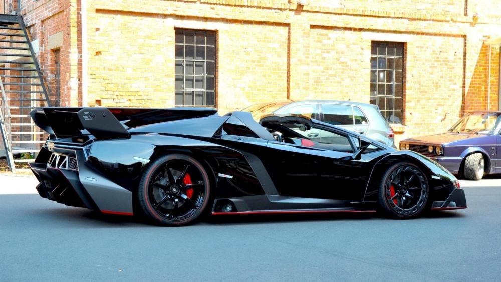 Black Lamborghini Veneno wallpaper