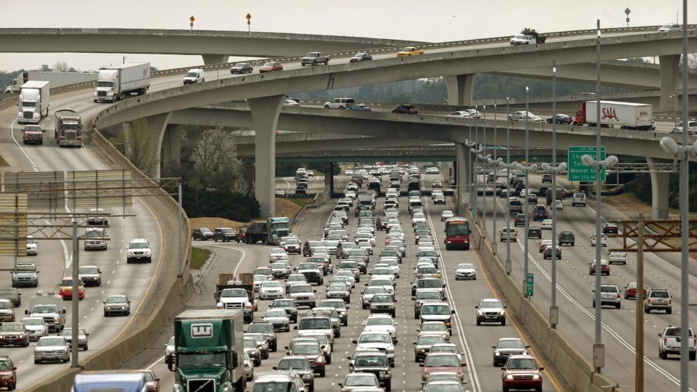 Traffic in Atlanta wallpaper