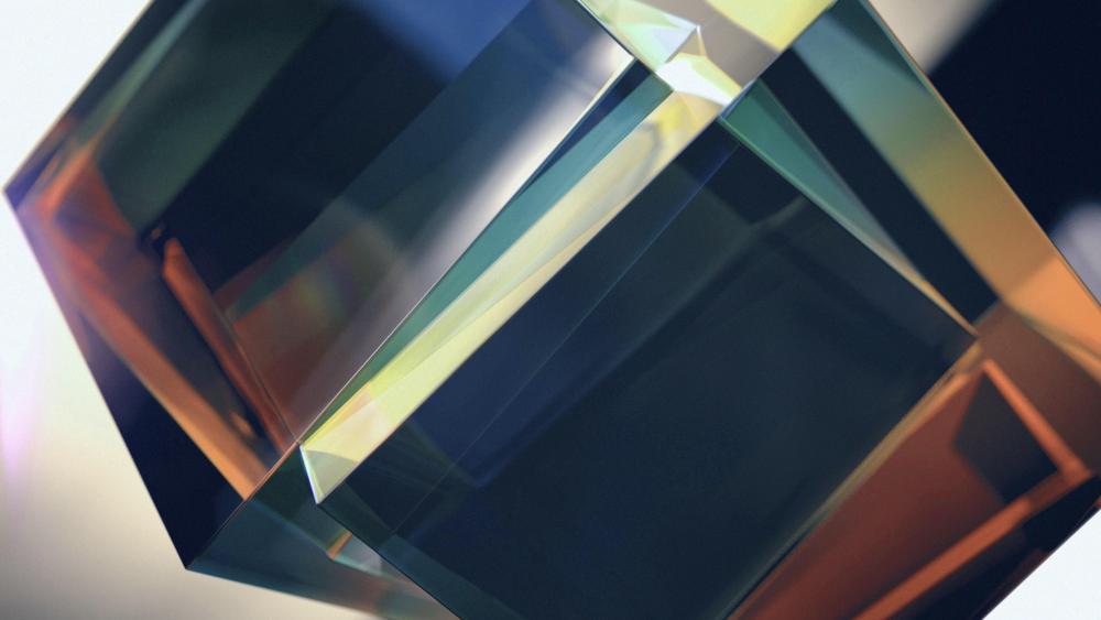 3D Translucent cubes wallpaper