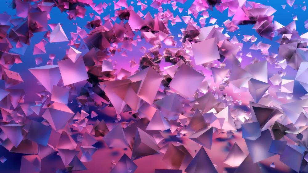 Pink pyramids wallpaper