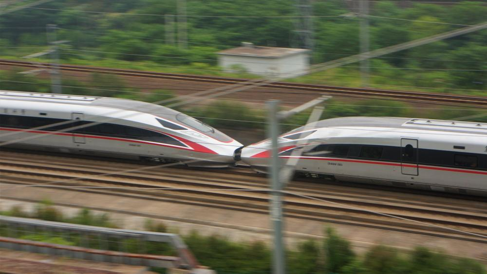 High-Speed Railway Coupling in China wallpaper