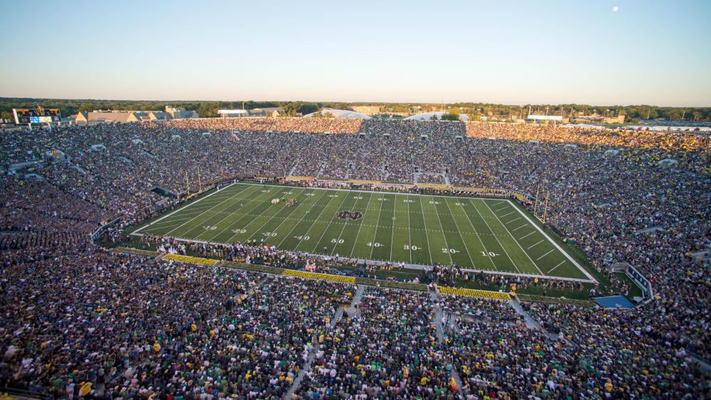Football Game at Notre Dame Stadium wallpaper