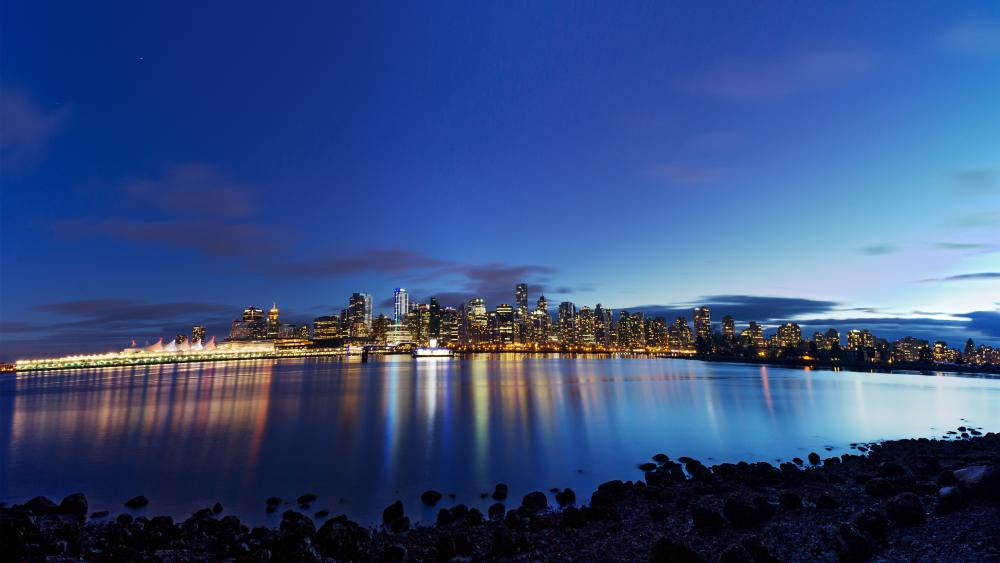 Vancouver lights wallpaper