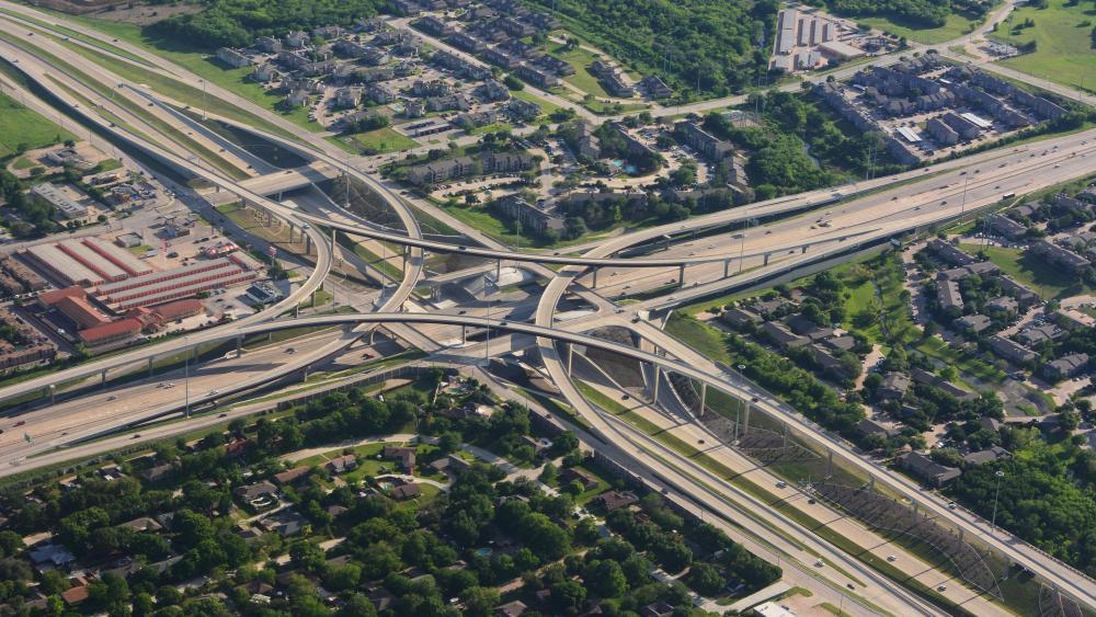 Interchange in the Greater Houston Area wallpaper