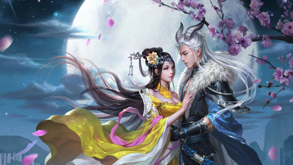 Fantasy romance wallpaper