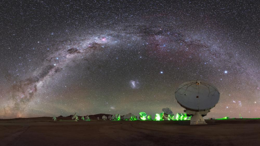 Arching over ALMA wallpaper
