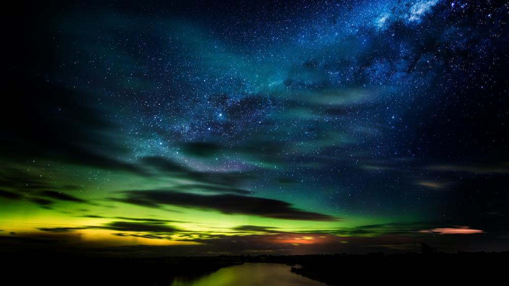 Aurora Australis (Southern Lights) in New Zealand wallpaper