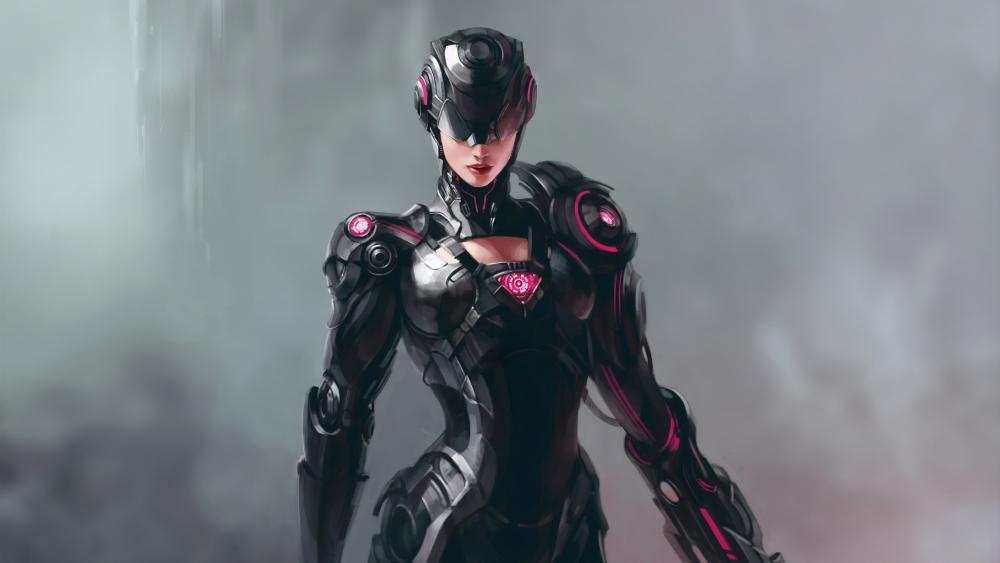Cyberpunk woman wallpaper