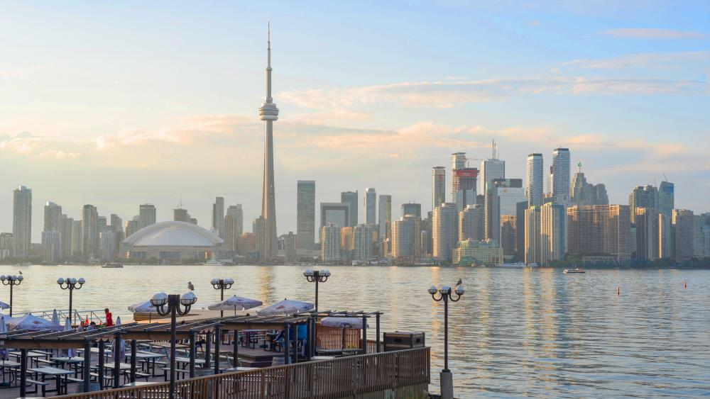 Lake Ontario & the Toronto Skyline wallpaper