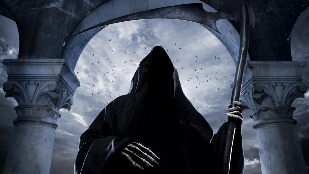 Gothic reaper wallpaper