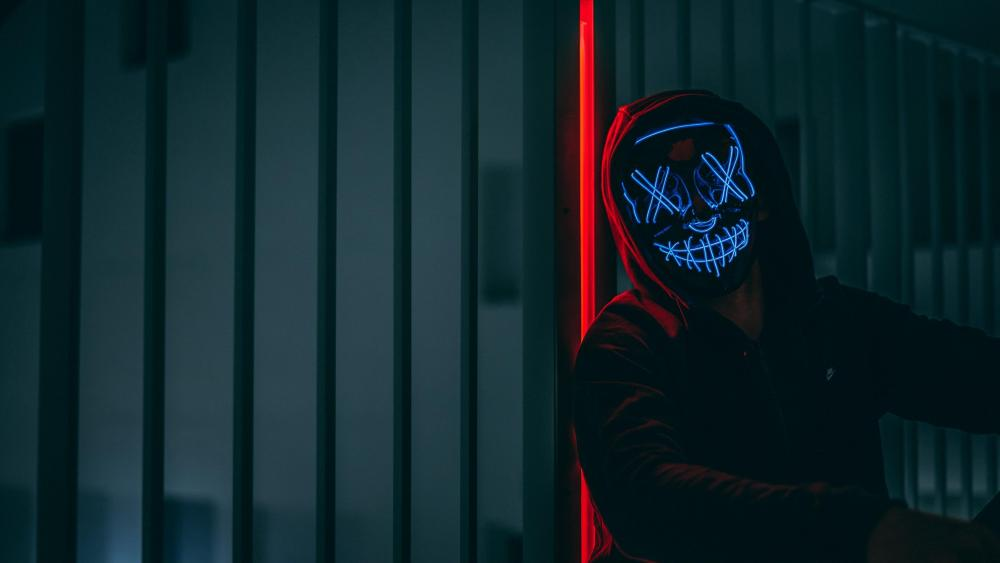 Neon masked guy wallpaper