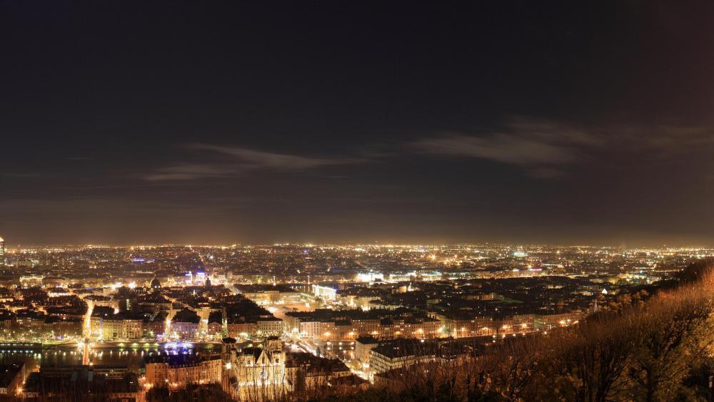 Panorama of Lyon, France wallpaper