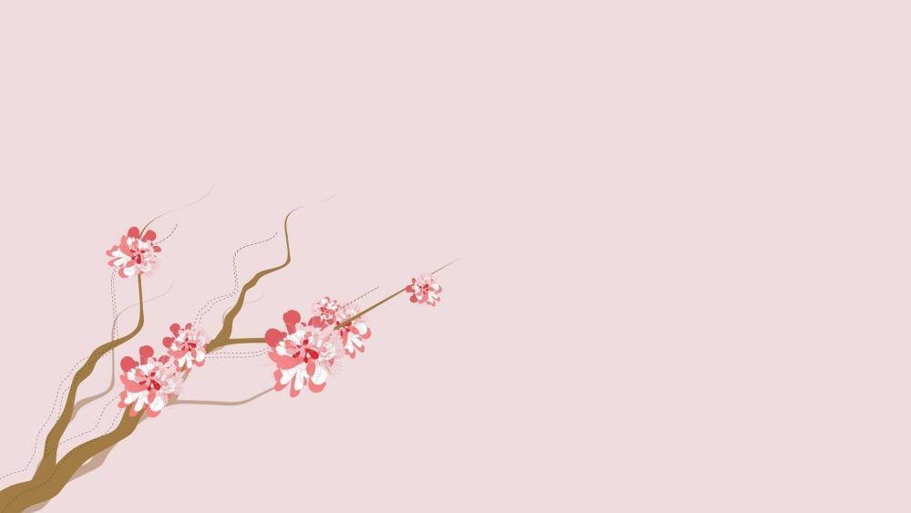 Cherry Blossom Background wallpaper