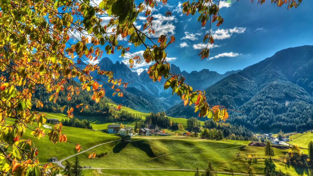 Funes Valley, Italy wallpaper