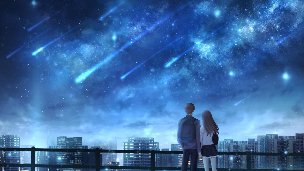 Blue Anime Sky wallpaper