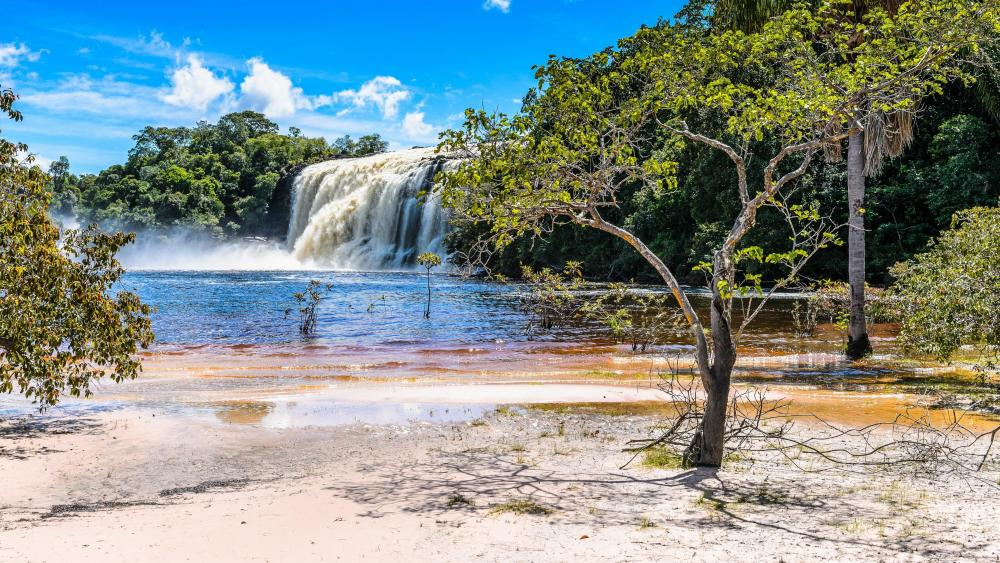 El Hacha Waterfall, Canaima National Park wallpaper