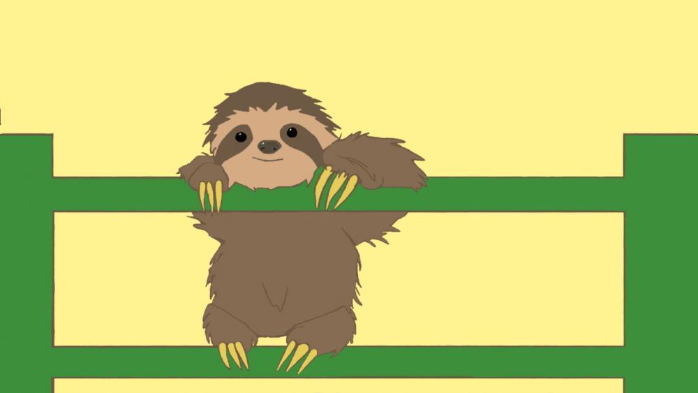Cute Sloth Cub wallpaper