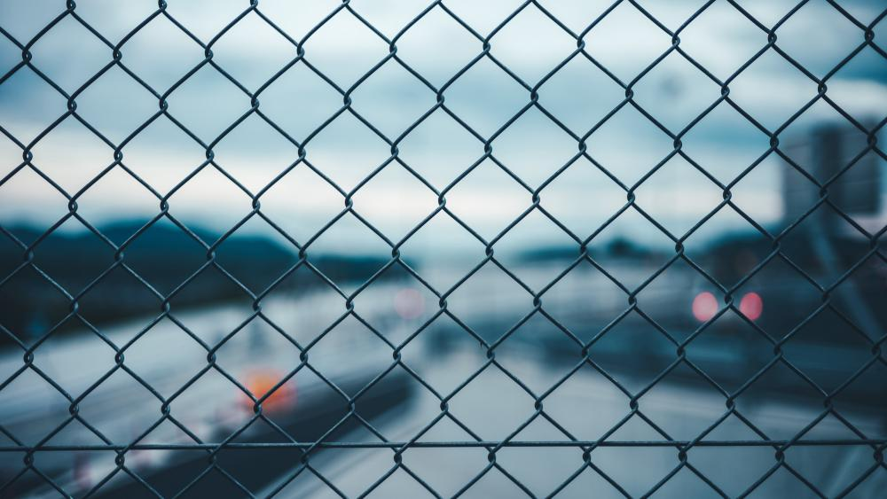 Chain link fence wallpaper