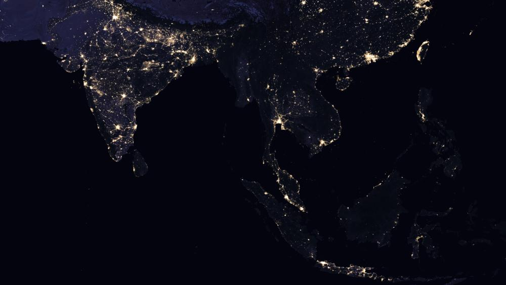 Night Lights of India & Southeast Asia wallpaper
