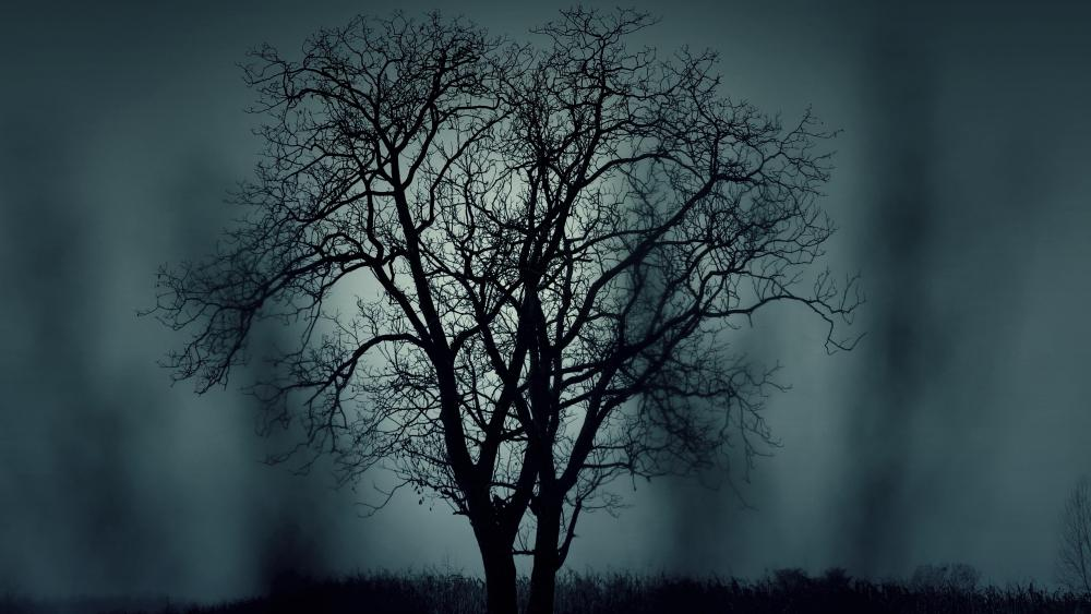 Mysterious tree wallpaper