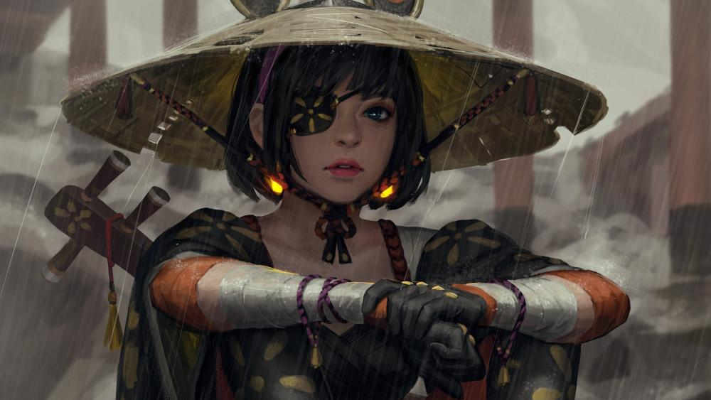 Japanese Female Samurai wallpaper