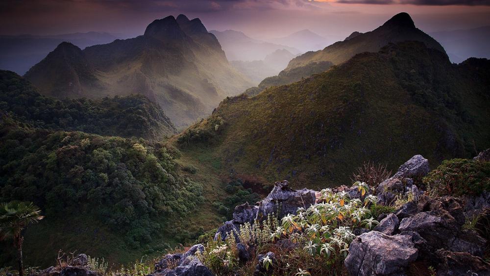 Thai mountains wallpaper