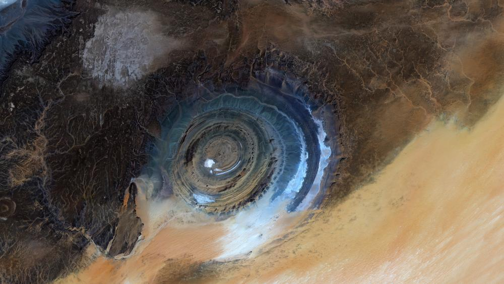 Satellite Image of the Richat Structure in Mauritania wallpaper