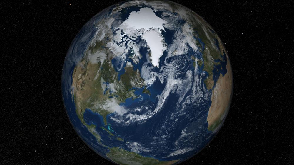 Earth's Northern Hemisphere wallpaper