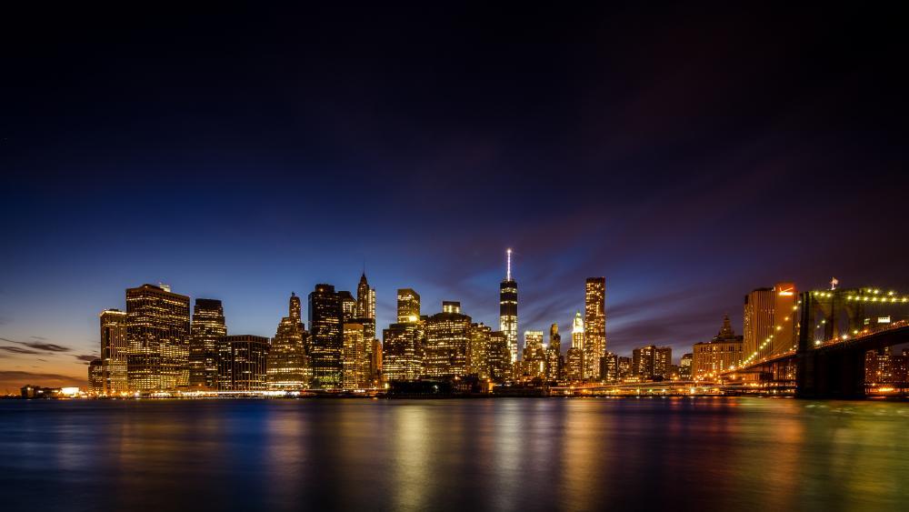 NYC from Brooklyn Bridge Park wallpaper