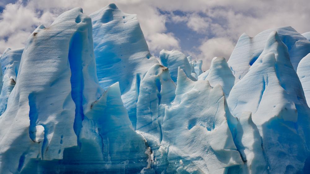 Grey Glacier wallpaper