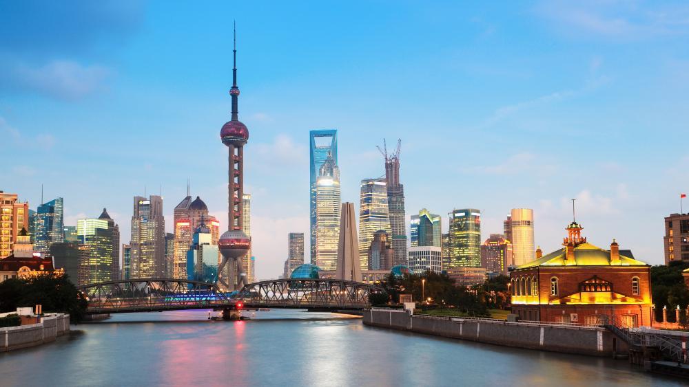 Waibaidu Bridge, Pudong, Shanghai wallpaper