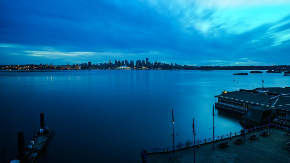 Vancouver at blue hour wallpaper
