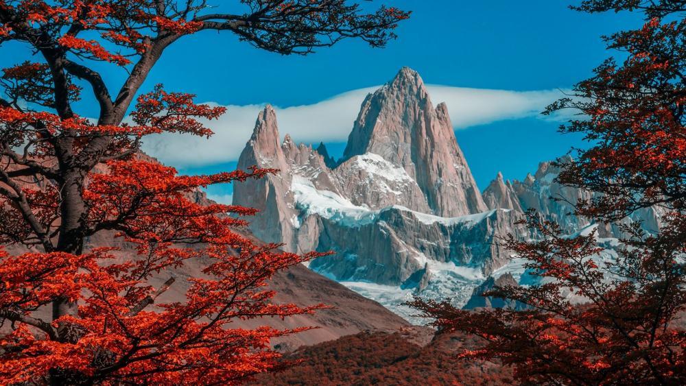 Monte Fitz Roy in Los Glaciares National Park wallpaper