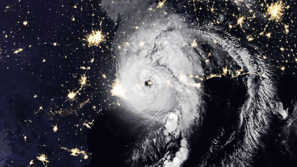 Hurricane Laura & the Night Lights of the Gulf Coast wallpaper