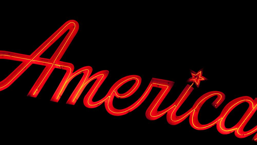 America neon sign wallpaper