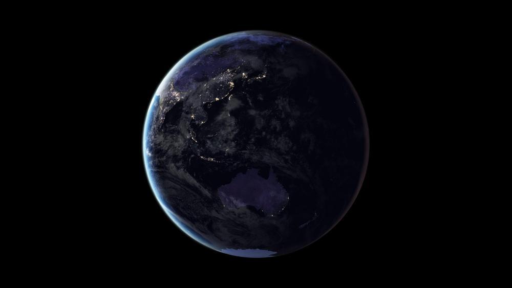 Black Marble 2016: Oceania wallpaper