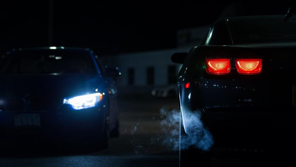 Car Lights at Night wallpaper