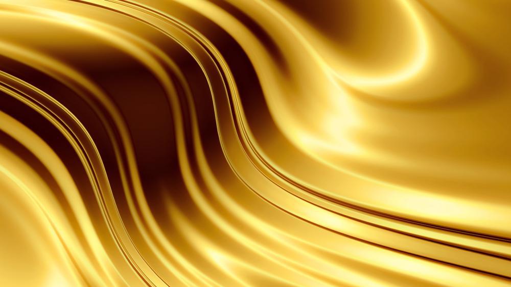 Golden waves wallpaper
