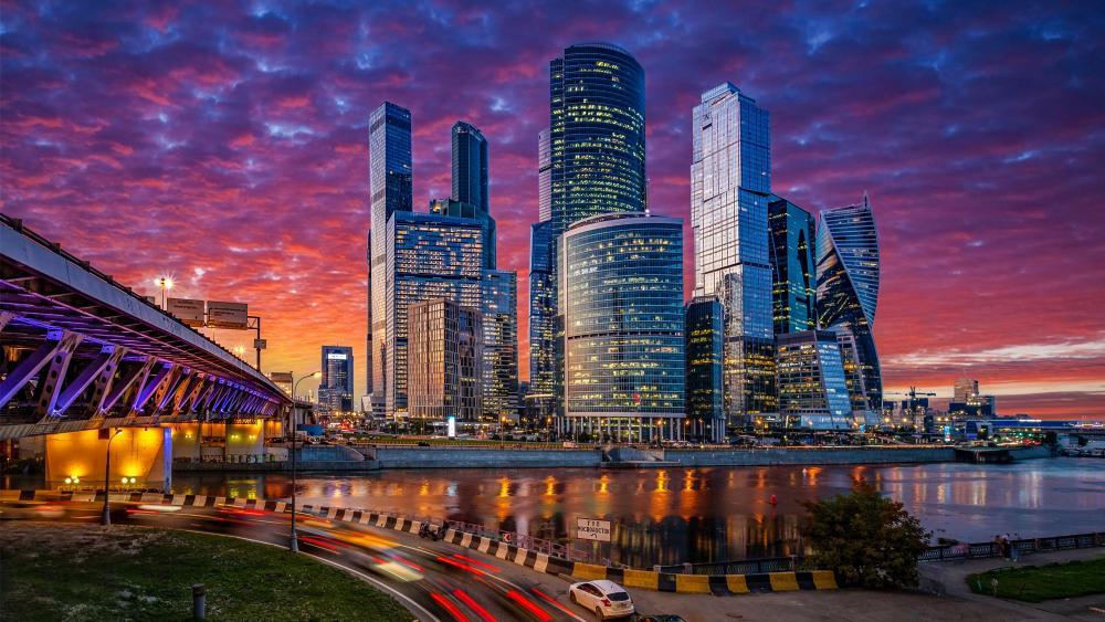 Moscow International Business Center wallpaper