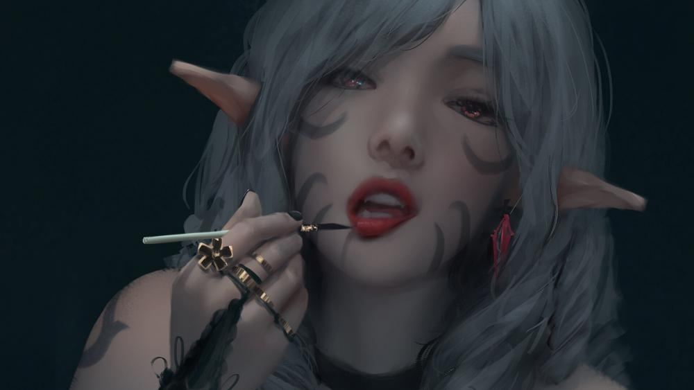 Elvish vampire wallpaper