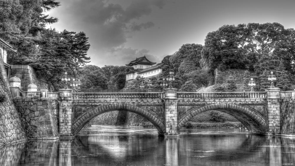Imperial Palace and Nijubashi Bridge, Tokyo, Japan wallpaper